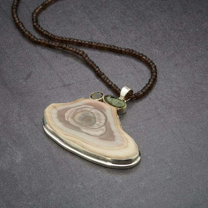 Peridot, Kyanite, Imperial Jasper Pendant
